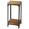 Butler Grimsley Iron & Wood Pedestal Stand, Industrial Chic