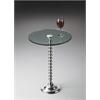 BUTLER Pedestal Table, Nickel