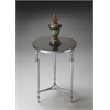 "End Table, Nickel, 16-1/4""Diam."