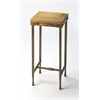 Gratton Iron & Wood Pedestal, Industrial Chic