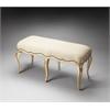Michelline Cream & Gold Painted Bench, Cream & Gold
