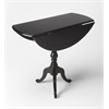 BUTLER Drop-Leaf Hall Table, Black Licorice