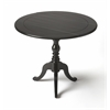 Dunlay Black Licorice Drop Leaf Accent Table, Black Licorice