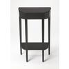 Wendell Black Licorice Console Table, Black Licorice