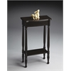 Whitney Rubbed Black Console Table, Rubbed Black