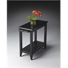 Irvine Black Licorice Chairside Table, Black Licorice