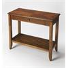 Irvine Olive Ash Burl Console Table, Olive Ash Burl