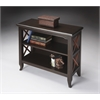 Butler Newport Black & Cherry Low Bookcase, Transitional Cherry