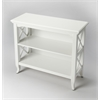 Newport Glossy White Low Bookcase, Glossy White