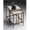 Butler Peninsula Mirrored Nesting Tables, Metalworks