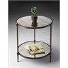 Peninsula Mirrored Side Table, Metalworks