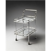 Butler Gatsby Contemporary Bar Cart, Nickel