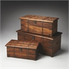 Arcadia Solid Wood & Iron Storage Trunk Set, Artifacts