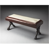 Taos Leather & Hair-On-Hide Bench, Loft