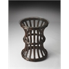 Butler Antigua Glass & Rattan End Table, Butler Loft