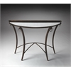 Butler Marilyn Metal & Mirrored Demilune Console Table, Metalworks