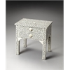 Vivienne Gray Bone Inlay Side Table, Heritage