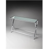 Bergen Frosted Glass Console Table, Frosted Glass