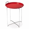 Midtown Red Tray Table, Red