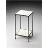 Larkin Marble & Iron Accent Table, Metalworks