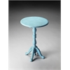 Duxbury Blue Reclaimed Wood Pedestal Table, Blue