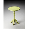 Duxbury Green Reclaimed Wood Pedestal Table, Green