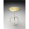 Butler Founders Brass Finished Pedestal Table, Metalworks