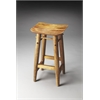 Lotus Solid Wood Bar Stool, Artifacts