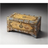 Nador Painted Brass Inlay Storage Trunk, Artifacts