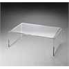 Butler Crystal Clear Acrylic Cocktail Table, Butler Loft