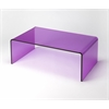 Butler Crystal Purple Acrylic Cocktail Table, Purple Acrylic
