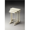 Butler Dunham Cottage White Nesting Tables, Cottage White
