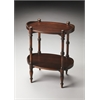 Kirsten Plantation Cherry Oval Side Table, Plantation Cherry