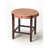 Anastasia Yellow Bone Inlay Accent Table, Red Bone Inlay