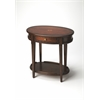 Adelaide Plantation Cherry Oval Side Table, Plantation Cherry