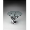 Butler  Modern Cocktail Table, Nickel