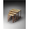 Decatur Recycled Wood & Iron Nesting Tables, Artifacts