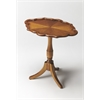 BUTLER Oval Pedestal Table, Olive Ash Burl