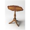 Butler Higgins Olive Ash Burl Oval Pedestal Table, Olive Ash Burl