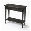 Butler Barrett Black Licorice Console Table, Black Licorice