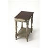 Fabia Antique Gray Chairside Table, Antique Gray