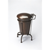 Butler  Copper Dust Bin, Industrial Chic