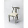 BUTLER Accent Chair, Black Bone Inlay