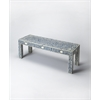 BUTLER Bench, Blue Bone Inlay