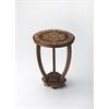 Wood & Bone Inlay Accent Table, Wood & Bone Inlay