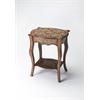 Wood & Bone Inlay Side Table, Wood & Bone Inlay