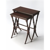 Arabella Plantation Cherry Nesting Tables, Plantation Cherry
