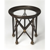 Richton Glass & Metal Lamp Table, Metalworks