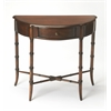 Skilling Plantation Cherry Demilune Console Table, Plantation Cherry