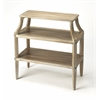 Appleton Driftwood Tiered Console Table, Driftwood